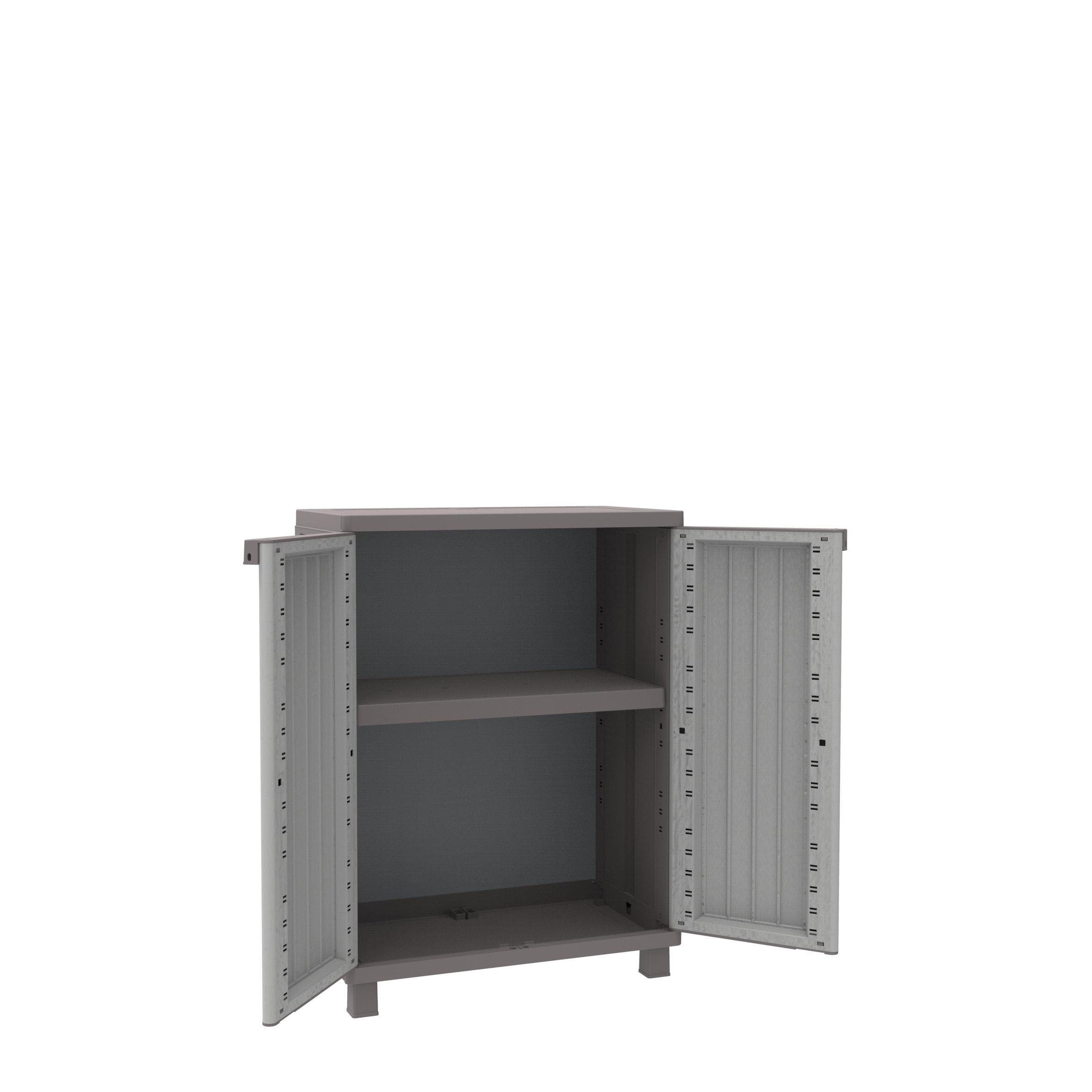 Terry Jwood Outdoor/Indoor Cabinet/Cupboard (Two Door Storage Cabinet with 1 Adjustable Shelves/ 3 Adjustable shelves/ Adjustable shelves)