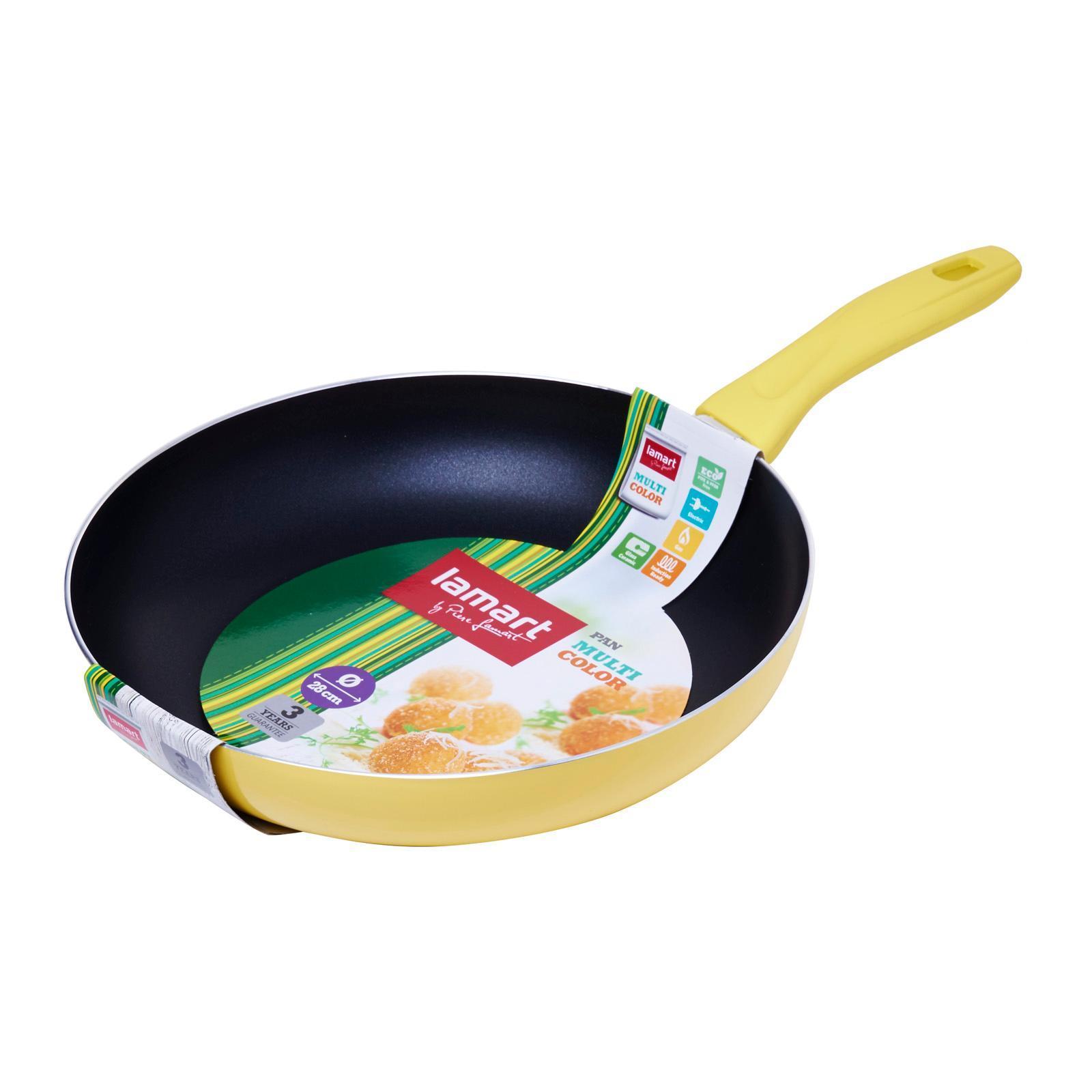 Lamart Induction Ready Non-Stick Fry Pan 28X5Cm - Yellow