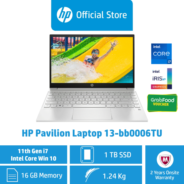 HP Pavilion Laptop 13-bb0006TU / Intel® Core™ i7-1165G7 / 16GB RAM / 1TB SSD / Win 10 / Light, Thin & Portable / 11th Gen Intel® Core™ i7 Processor / First 2 Years ADP Coverage