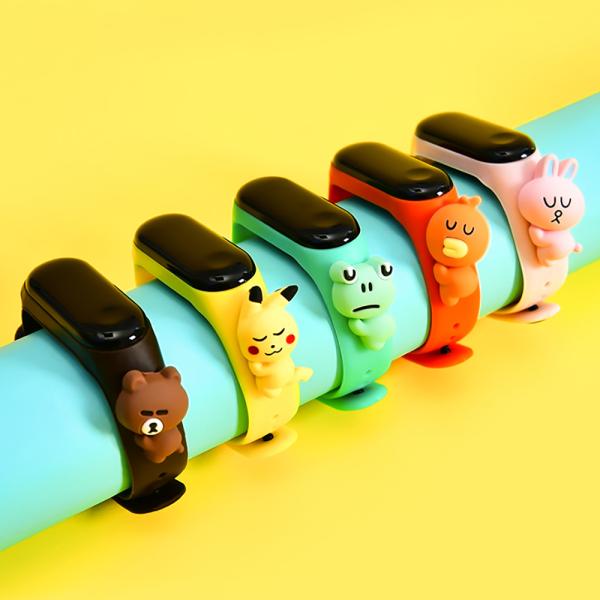 GEYUAN Phim Hoạt Hình Pikachu Nam Nữ, Thêm Nước Tăng Tinh Tay Sai LED Đồng Hồ Đeo Tay Kỹ Thuật Số Thể Thao Đồng Hồ Trẻ Em