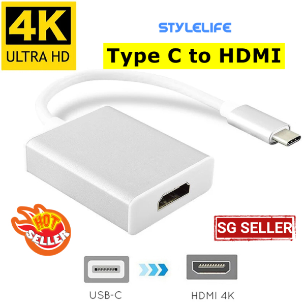 Type-C To HDMI Video Converter USB-C to HDMI 1080P HD Converter for Projector Video Cable Computer External Accessories