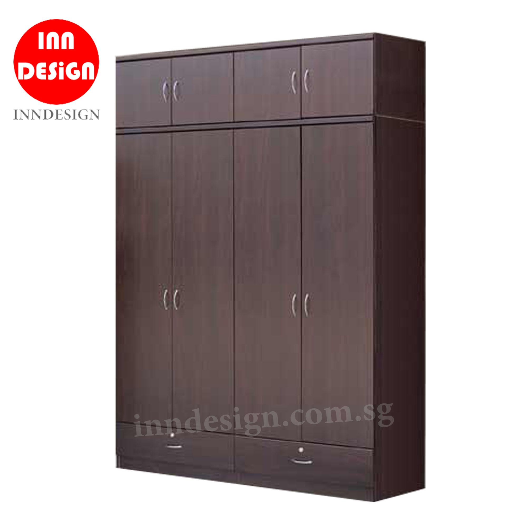 [NEXT DAY DELIVERY] 5ft 8 Doors Wardrobe With Drawers
