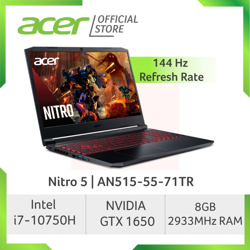 [LATEST] Acer Nitro 5 AN515-55-71TR 144Hz Refresh Rate Gaming laptop with 10th Gen Intel Core i7-10750H Processor and NVIDIA GeForce GTX 1650 Graphic