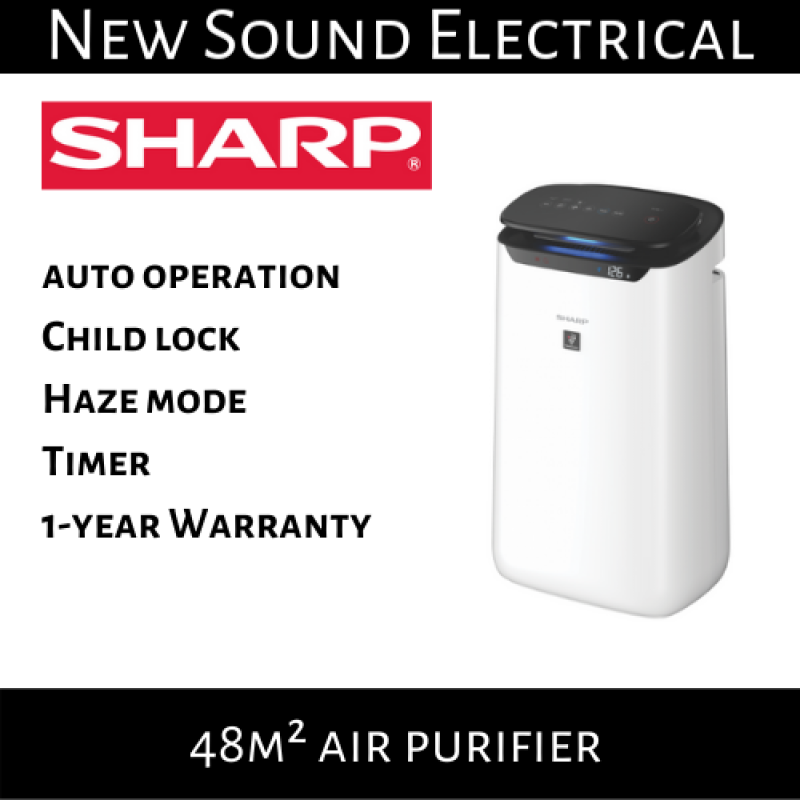 Sharp FP-J60E-W 48m² Air Purifier |1-year Local Warranty Singapore