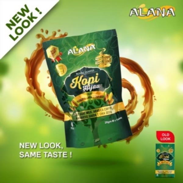 Buy NEW FORMULA! ALANA Green Coffee With Habbatus Sauda & Chia Seed (Slimming, Weight Loss, Fat Burner, Energy Drink) (15 Sachets) Singapore