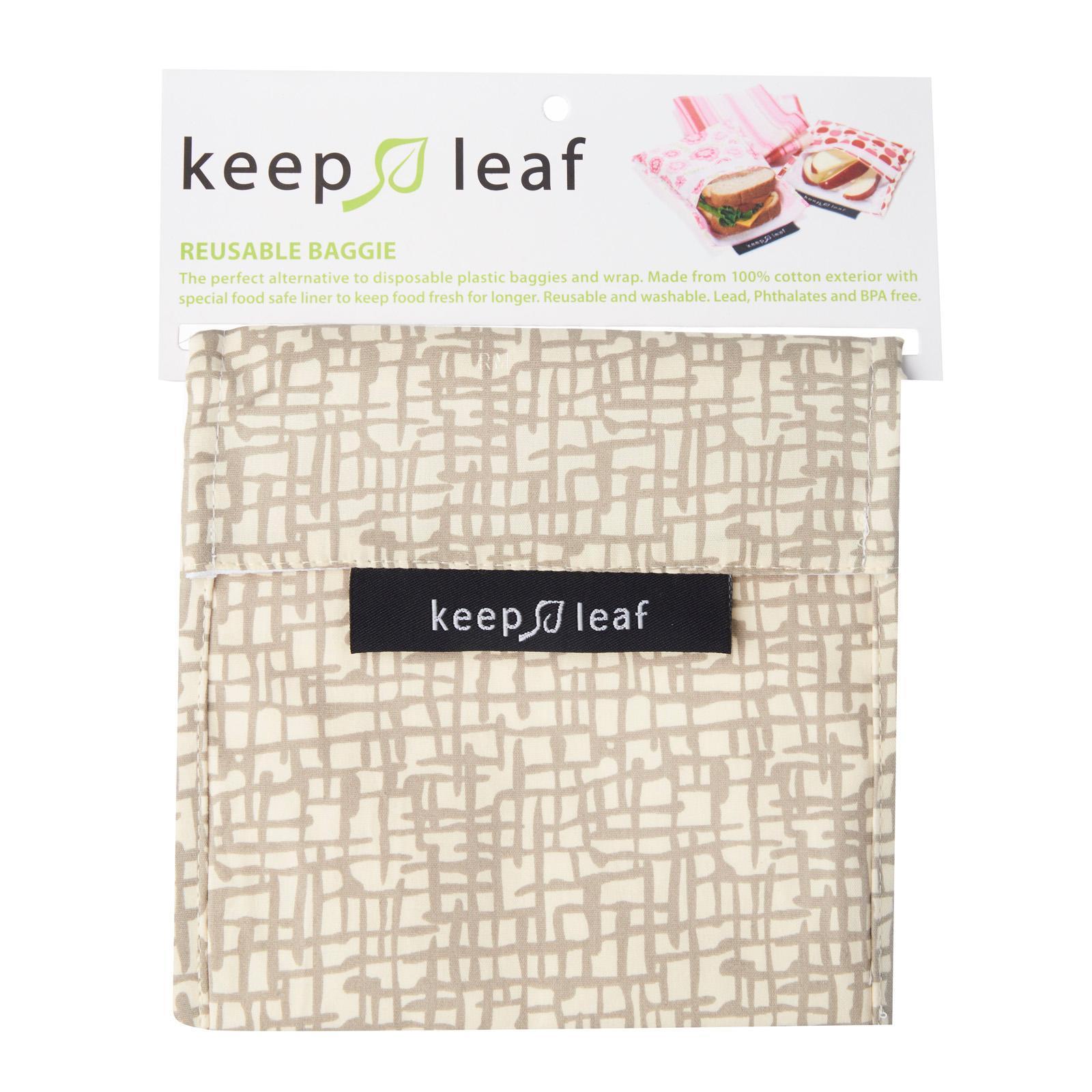 Keep Leaf Reusable Snack Bag (Large) - Mesh Design Sandwich Bag