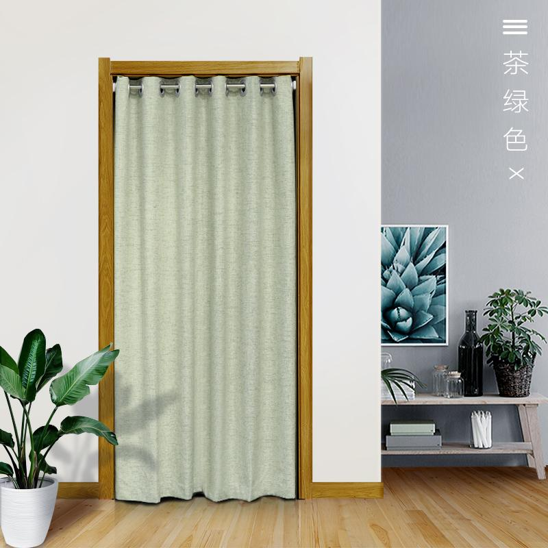 Cloth Curtain Partition Household Air Conditioner Decoration Bathroom Bedroom Living Room Kitchen Oil Resistant Smoke Fitting Room-Free Punched