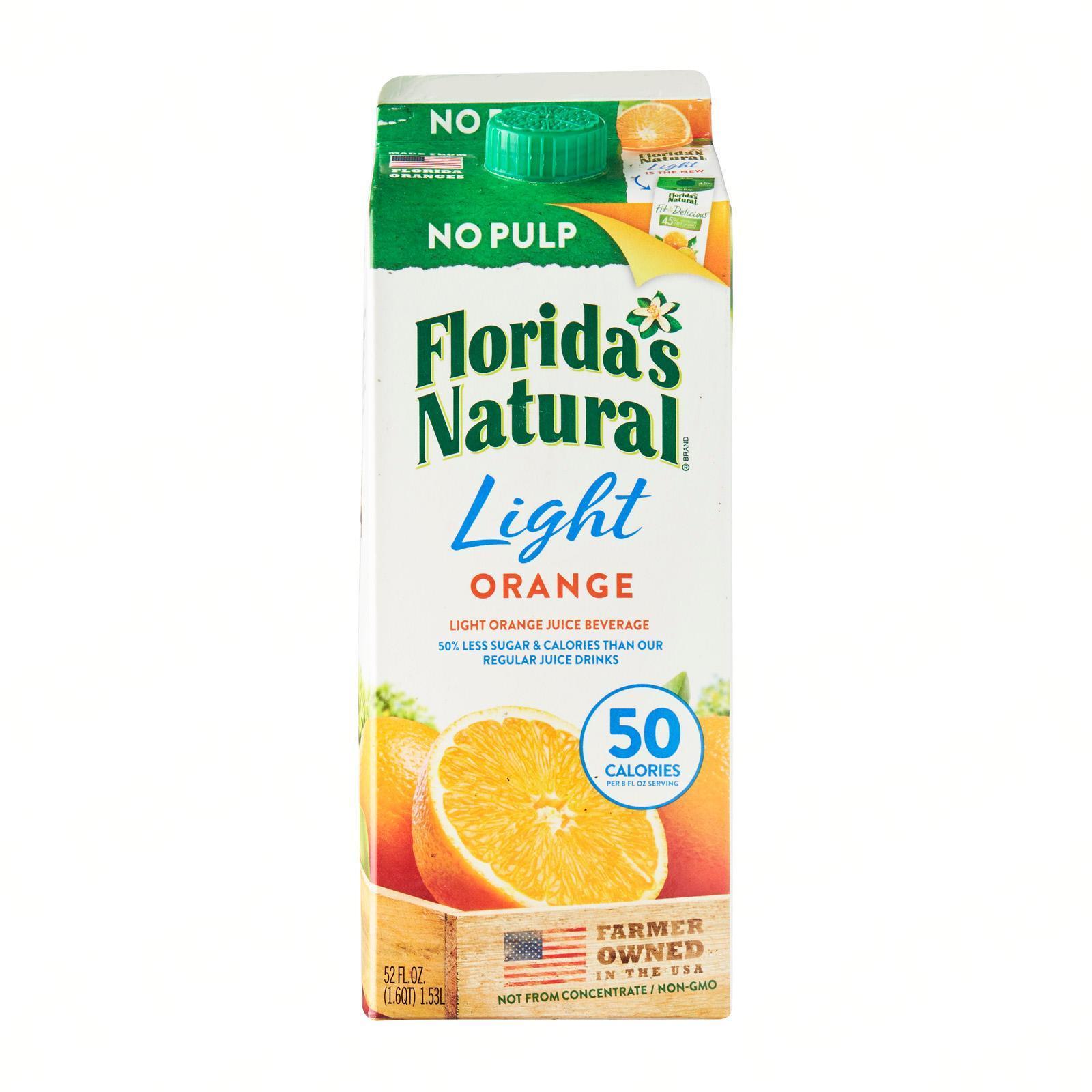 FLORIDA'S NATURAL Light Premium Orange (No Pulp) 1.5L