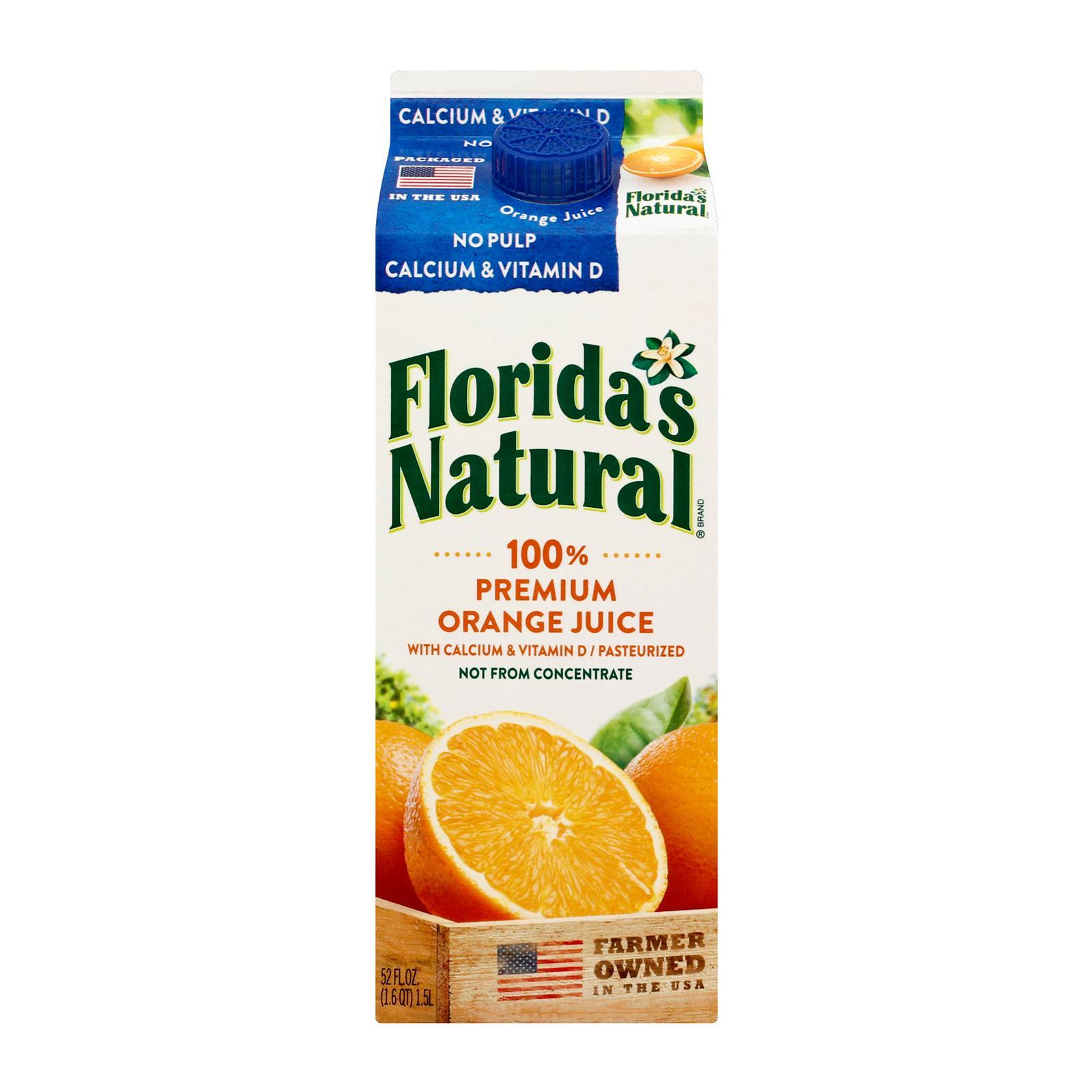 Florida's Natural NFC Premium with Calcium and Vitamin D (No Pulp) Orange Juice