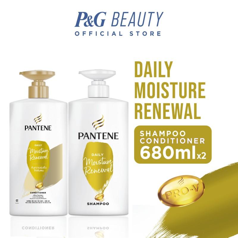 Buy [Bundle of 2] Pantene Daily Moisture Repair Shampoo 680ml + Conditioner 680ml Singapore