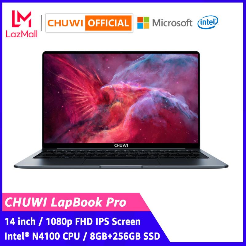 【CHUWI OFFICIAL】LapBook Pro Laptop / 14 Inch 1920*1080 / Intel® N4100 CPU / Genuine Windows 10 / Backlit Keyboard / 8GB+256GB SSD / Dual Band WiFi / 1 Year Warranty Thin Notebook Computer PC