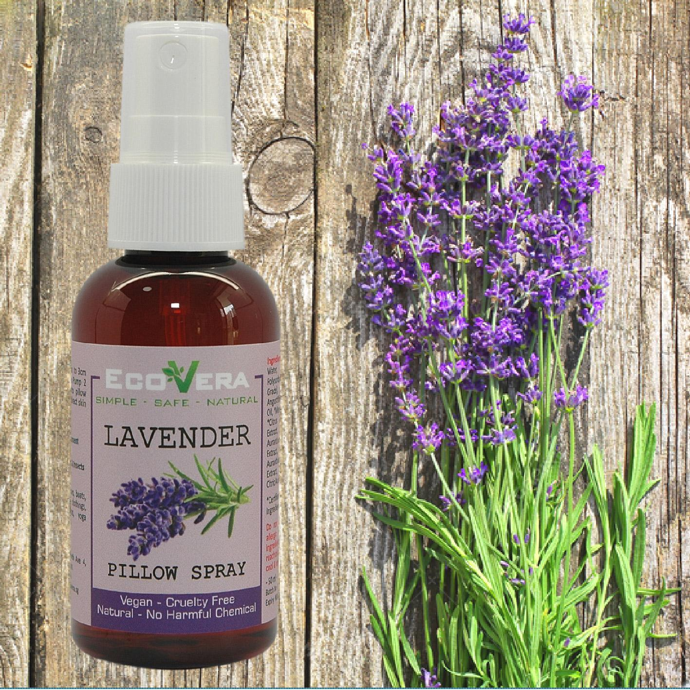 Pillow Spray - Lavender Essential Oil - Antimicrobial By Yk Natural.