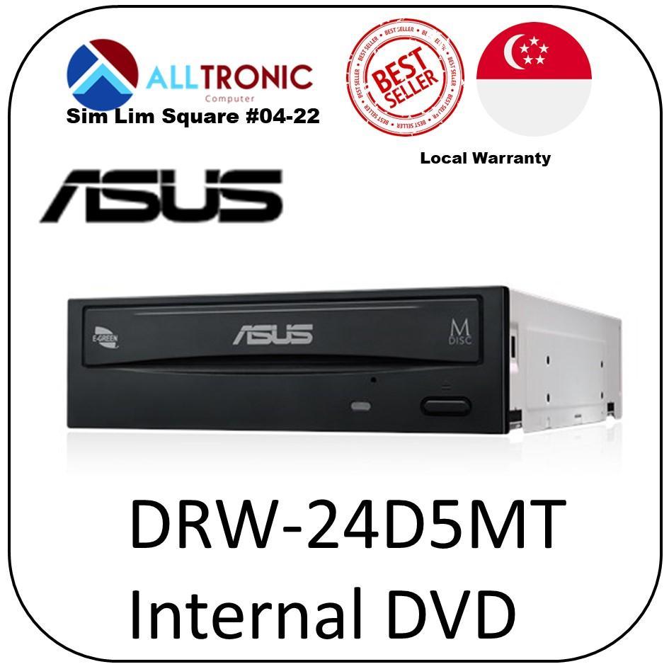 Asus DRW-24D5MT Internal 24X DVD Burner Bulk Pack/ 1Year Local Warranty/Singapore Authorised Reseller
