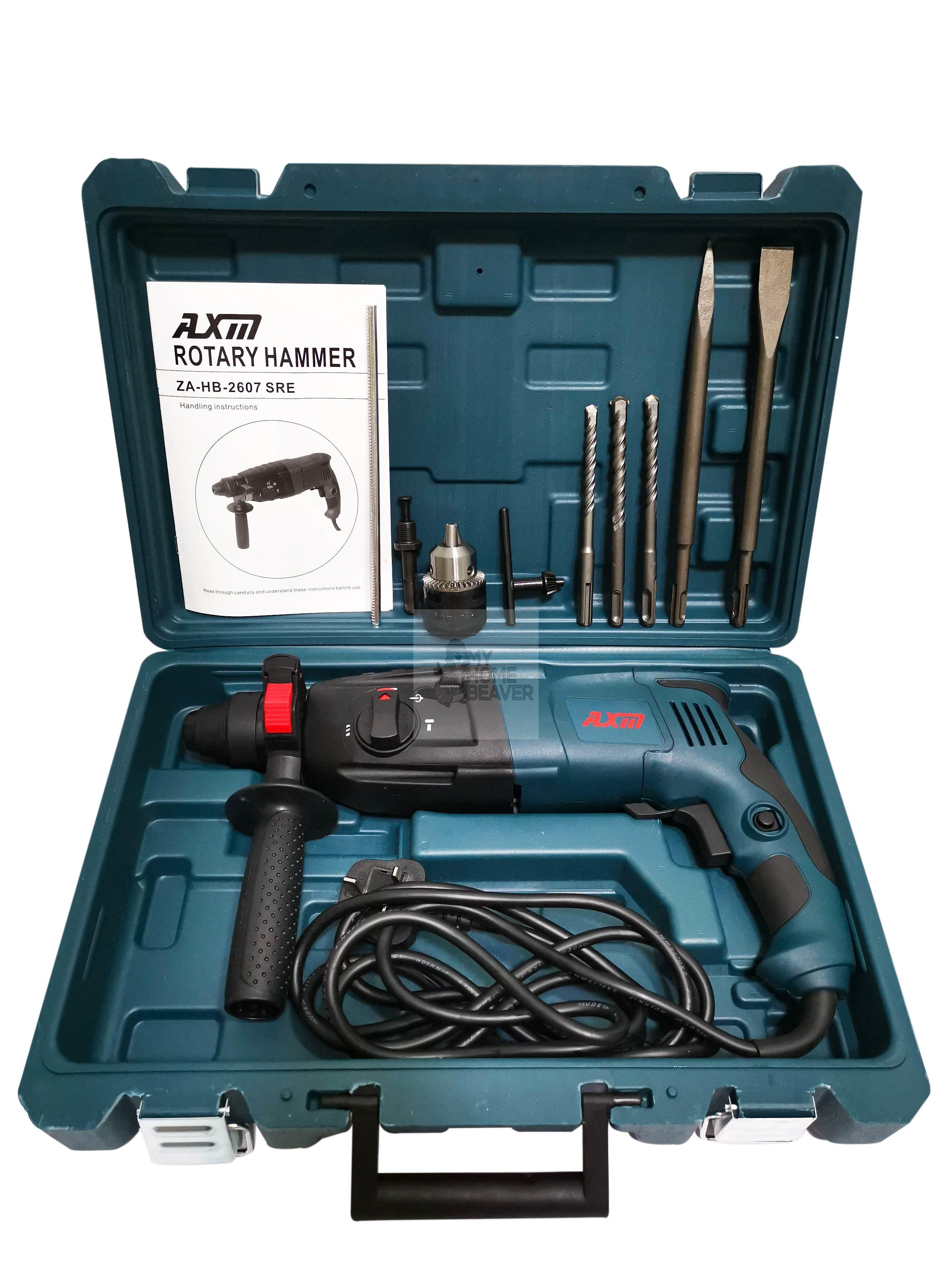AXM 26 mm Rotary Hammer Drill 800W [Z1A-HB-2607 SRE] with Accessories