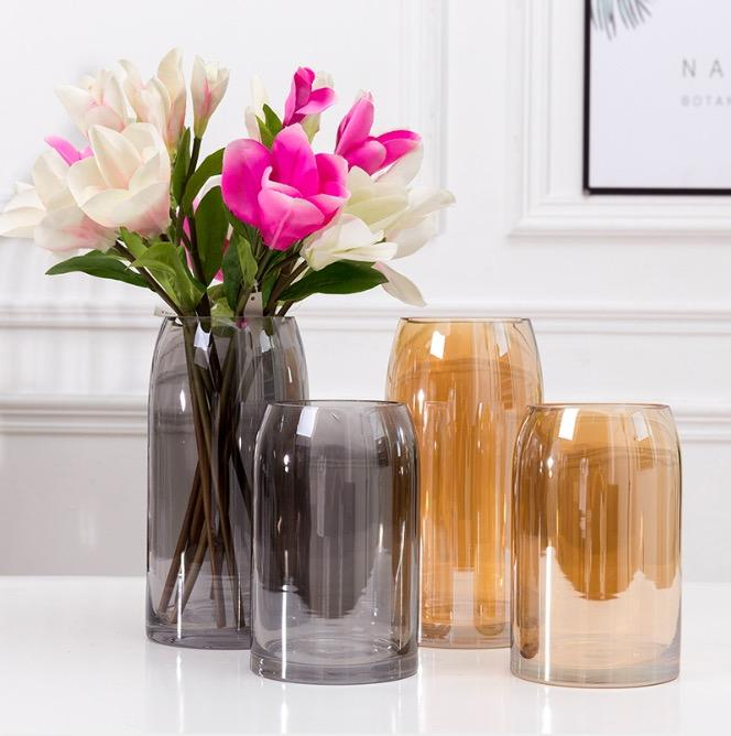 GIGLIO Wide Tinted Glass Vase