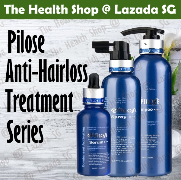 Buy Pilose 3 Piece Anti HairLoss Set includes Shampoo, Spray, Serum Singapore