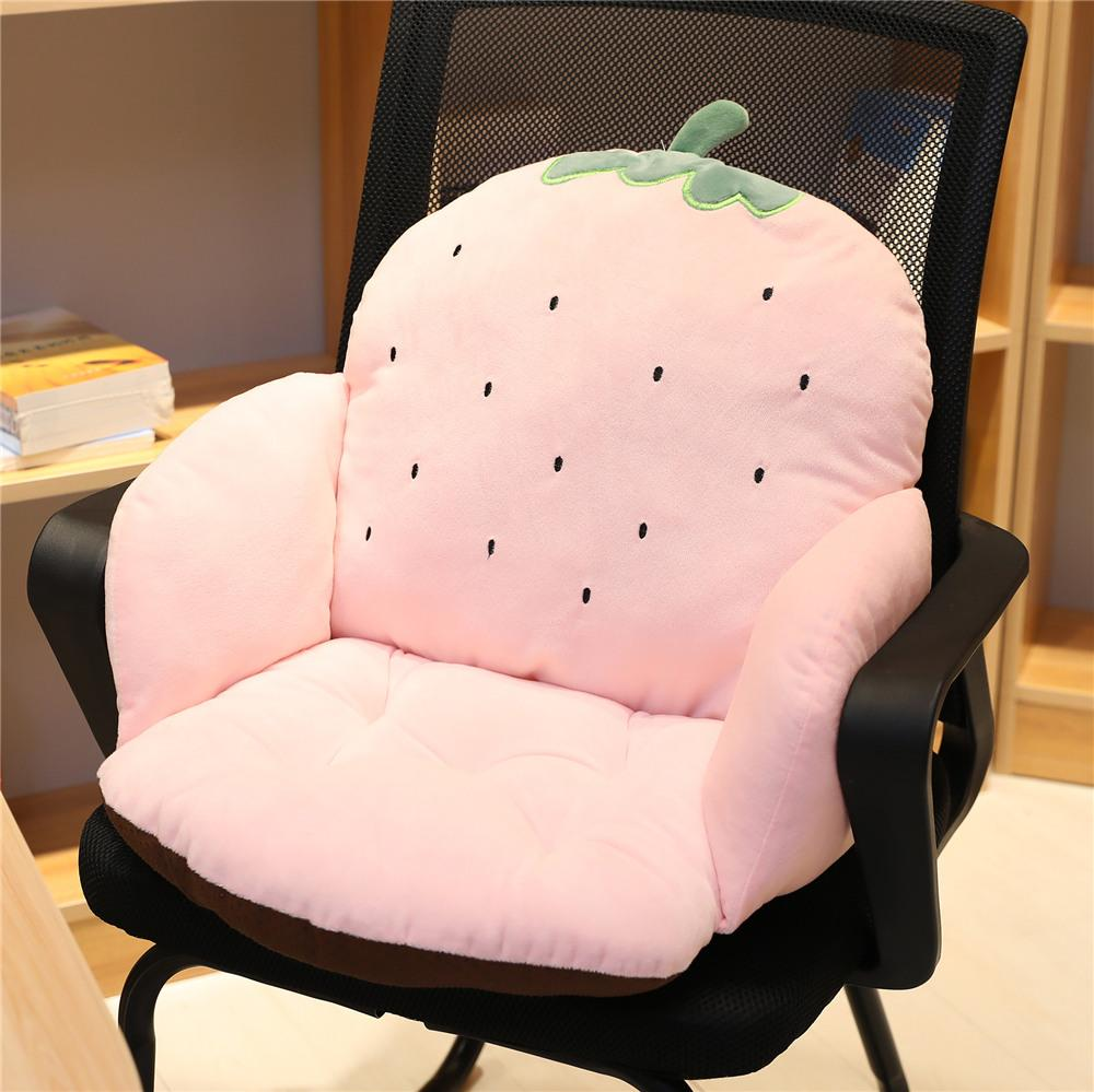 Lumbar Support Pillow throw pillow One-piece Chair throw pillow Office Sedentary Backrest Seat throw pillow Students Winter on the Ground