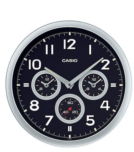 Casio IQ-90A-8DF Wall Clock WCL79 Dual time Round Wall Clock Free