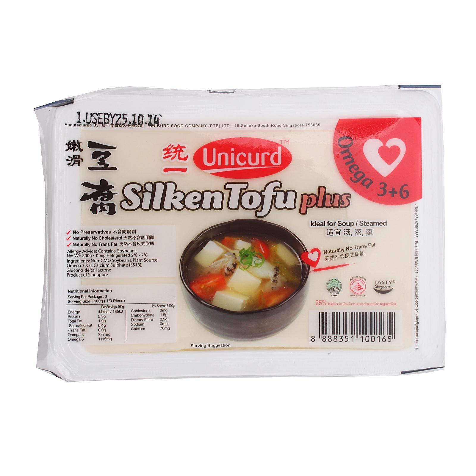 Unicurd Omega Silken Tofu Plus (Box)
