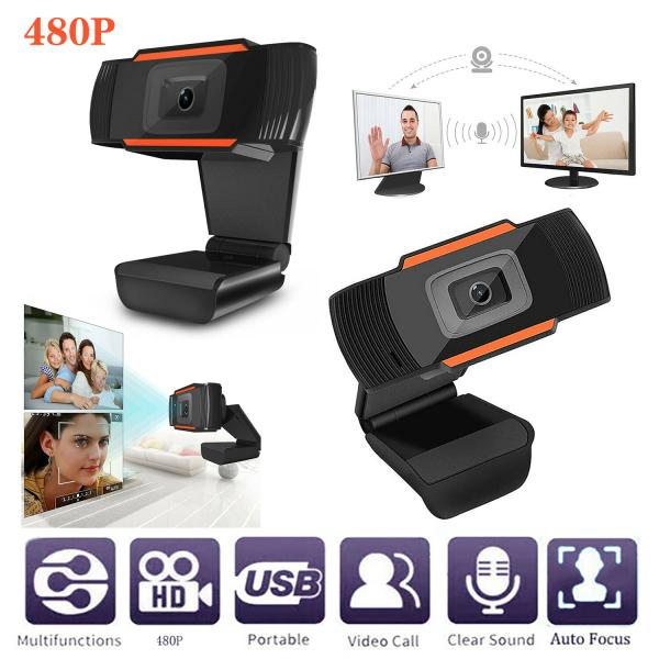 [SG Seller]480/720/1080P Webcam Auto Focusing Web HD Camera PC Laptop Desktop with Microphone