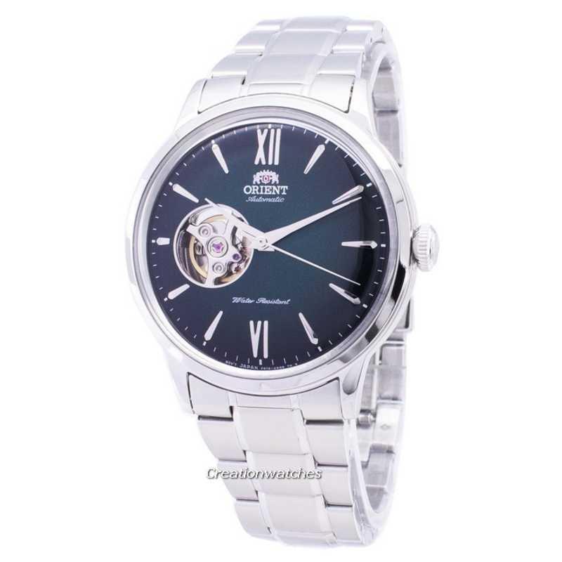 Orient Bambino Open Heart Automatic Men's Silver Stainless Steel Bracelet Watch RA-AG0026E10B