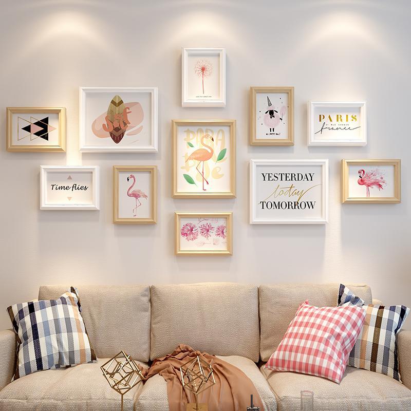 Creative Sudoku Frame Wall Wash Photo Simple Wood Frame Outline Border Wedding Album Photo Frame Combination