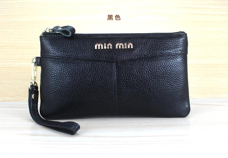 Clutch Female 2019 Summer New Style First Layer Zip Coin Purse Korean Style Womens Wallet Small Bag Fashion