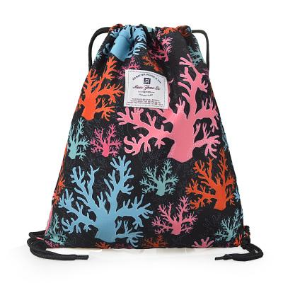 Waterproof Drawstring Bag Backpack Sports Dry Wet Compartments Swimming Yoga Gym