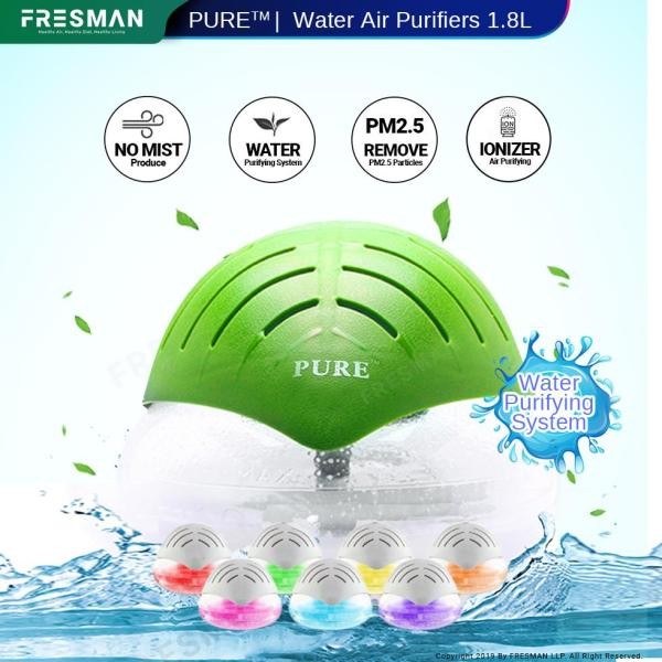 Water Air Revitalizer Purifier 1.8L With Ionizer And LED Light, PM2.5 Air Freshener, Passive Humidifier Spread Aroma With Water Base Essential Oil Singapore