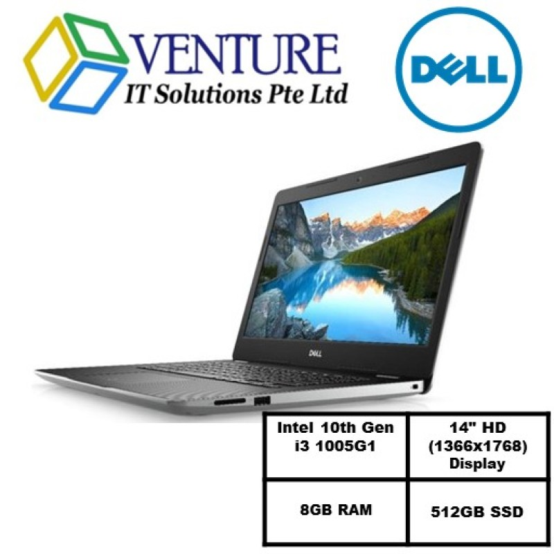 Laptop Dell Inspiron 3493 (READY STOCK)-i3 1005G1/14.0-inch HD (1366 x 768)/ 8GB RAM/512GB SSD/Win10