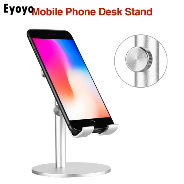 【In Stock】Eyoyo Silver Tablet Holder Stand Adjustable Aluminum Compatible with Phone and Monitor