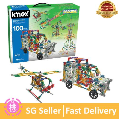 Knex K'nex 100 Model Building Set – 863 Pieces – Ages 7+ Engineering Educational Toy By Momo Accessories.