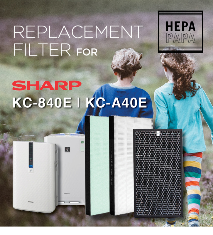 Sharp KC-840E/ KC-A40E (Hepa+Carbon Filters) [Free Alcohol Swab] [SG Seller] [7 Days Warranty] Singapore