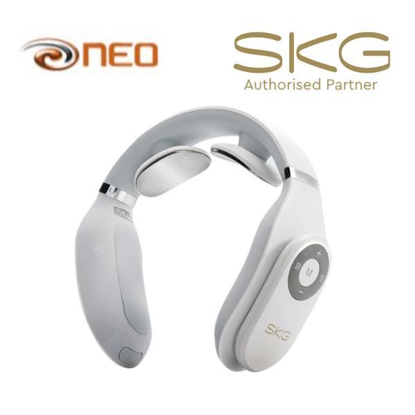 Buy SKG Smart Neck Massager with Heating Function, Cordless Portable Design 4098 - White - SKG Authorised Reseller Singapore