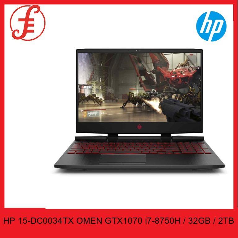 HP 15-DC0034TX OMEN GTX1070 15-dc0034tx (i7-8750H / 32GB / 2TB HDD / WIN10) with 144Hz GAMING LAPTOP  (15-DC0034TX)
