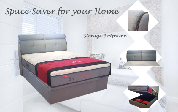 Storage Bed ★ Cashmerian Lux X Mattress 12inches ★Protector ★Beddings ★Bed Frame ★Bed Room ★Sofa