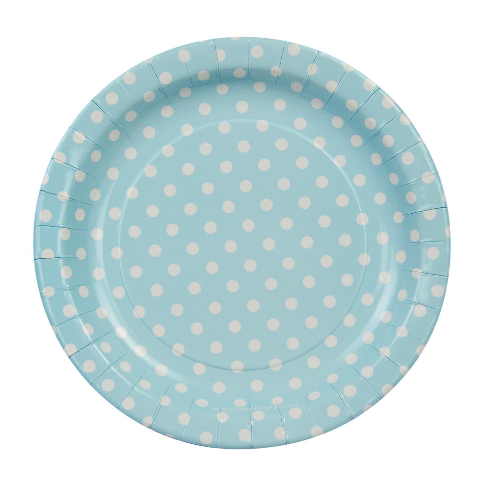 Sambellina Polkadot Blue 23 Cm Party Plates