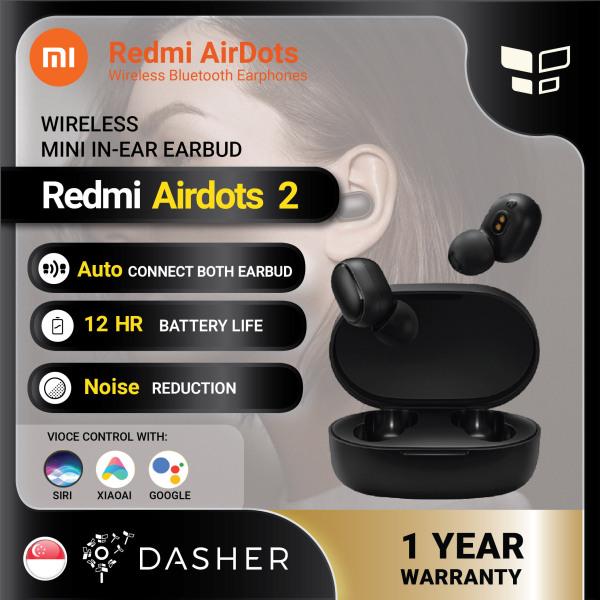 Xiaomi Redmi AirDots 2 TWS Mi True Wireless EarBuds Earphone Bluetooth 5.0 Voice Control Noise Cancelling Singapore