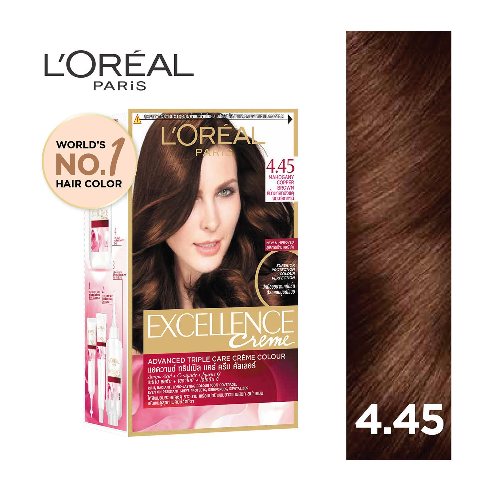 L'Oreal Paris Excellence Creme Mahogany Copper Brown - 4.4