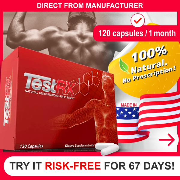 Buy TestRx  Anti-Aging Male Hormone Enhancement for Men [120 Capsules]   Natural Male Muscle Growth Supplement, Energy & Virility Boost + Fat burner   100% Authentic USA Product Direct from Manufacturer Singapore
