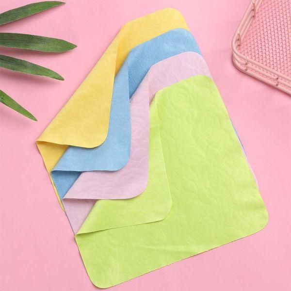 Giá bán QUEFEI3 Kính Râm Họa Tiết Hoa Hồng Giặt Được Tái Sử Dụng, Kính Vuông, Kính Mắt Vi Sợi Phụ Kiện Kính Quần Áo Ống Kính Vải
