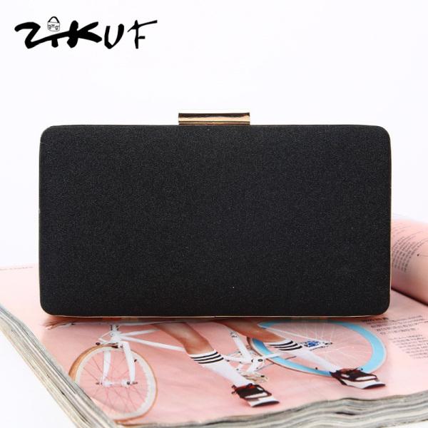 ZIKUF Ladies Clutches Light Luxury Elegant Dinner Bag Staylish Shining Detachable Chain Strap Hand Bag