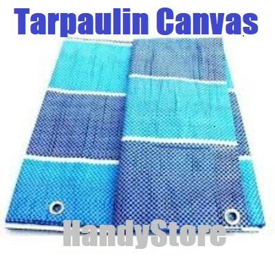 10 x 10ft TARPAULIN CANVAS/ GROUND SHEET/ CANVAS COVER/ CAMPING/ PICNIC