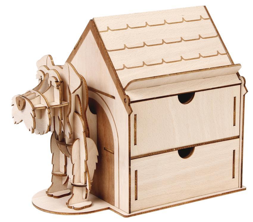 Jigzle Plywood Home- Mini Schnauzer Drawer