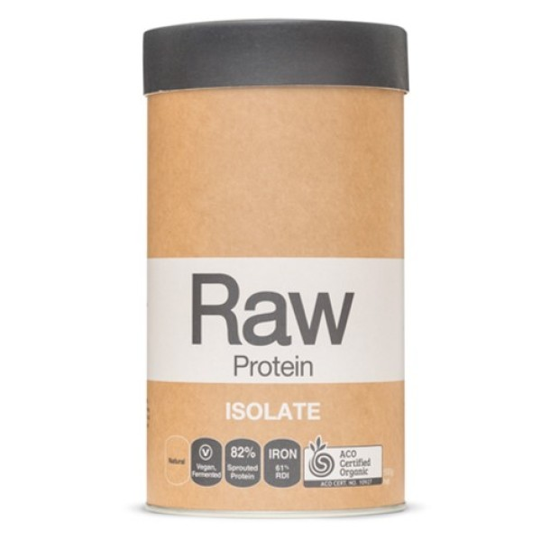 Buy Amazonia Raw Protein Isolate - Natural 500g | Vegan Alkaline Cultured 82% Sprouted Protein with Iron | Sprouted & Fermented Pea and Brown Rice Protein | Plant Based Digestive Enzymes | 500g Singapore