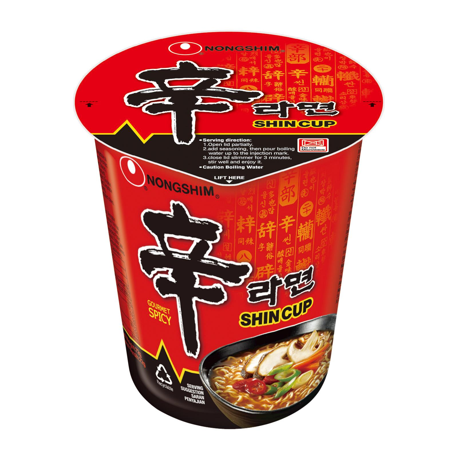 Nongshim Spicy Mushroom Flavored Cup Noodles