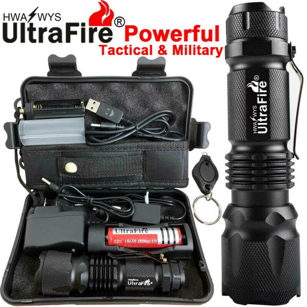 Original Ultrafire Powerful Zoom 90000LM X800 Tactical Military T6 LED Flashlight Torch Work Light