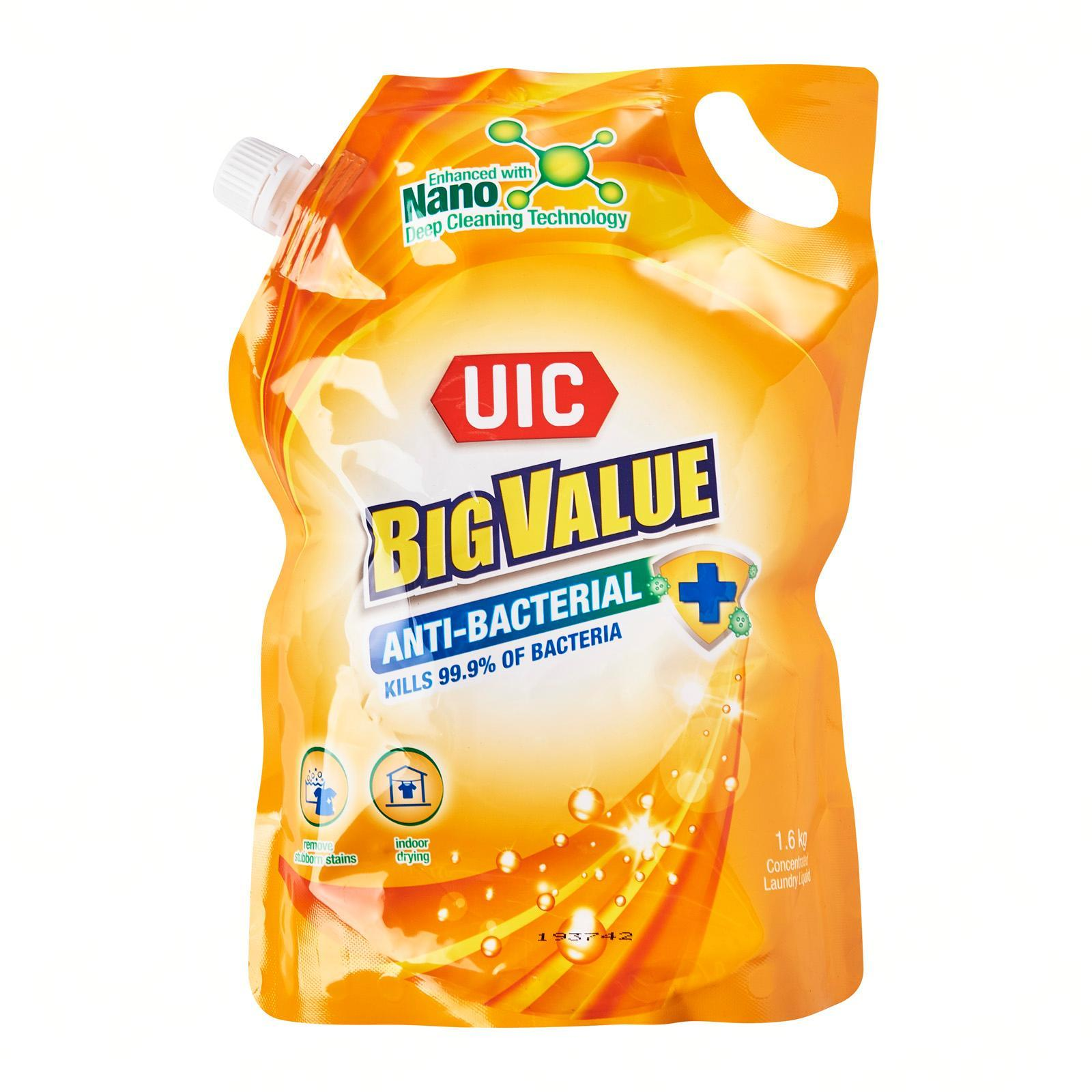 UIC Big Value Antibacterial Concentrated Liquid Laundry Detergent Refill Pack