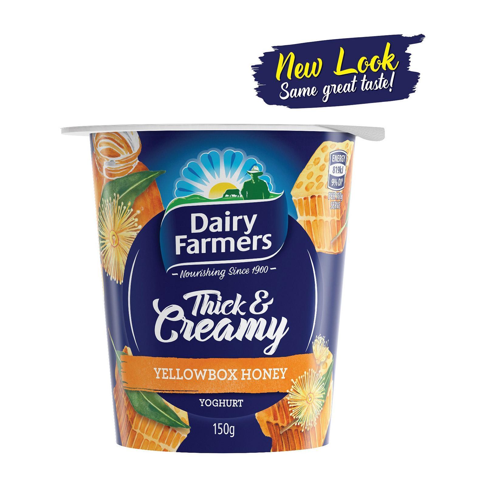 Dairy Farmers Thick And Creamy Yellow Box Honey Yoghurt
