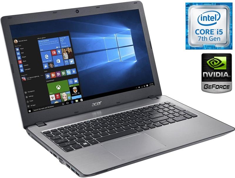 (Refurbished) Acer Aspire F5-573G - 15.6- FHD (1920x1080) - (7th Gen) Intel Core i5-7200U - 8GB - 256GB SSD + 1TB HDD - NVIDIA GeForce GT 940MX with 4GB Dedicated VRAM - Windows 10 Home 64 Bit - *FREE Pre-Installed (Trend Micro Internet Security )